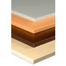 Tischplatte (Gütefeinspanplatte) mit Melaminharz beschichtet, rechteckig + trapezförmig