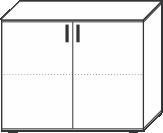 2 Ordnerhöhen (73 cm hoch), 100 cm breit