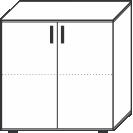2 Ordnerhöhen (73 cm hoch), 80 cm breit