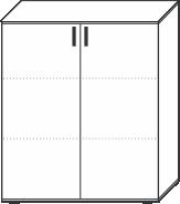 3 Ordnerhöhen (107,5 cm hoch), 100 cm breit