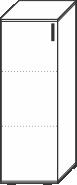 3 Ordnerhöhen (107,5 cm hoch), 40 cm breit