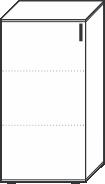3 Ordnerhöhen (107,5 cm hoch), 60 cm breit