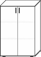 3 Ordnerhöhen (107,5 cm hoch), 80 cm breit