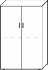 4 Ordnerhöhen (146 cm hoch), 100 cm breit