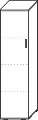4 Ordnerhöhen (146 cm hoch), 40 cm breit