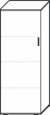 4 Ordnerhöhen (146 cm hoch), 60 cm breit