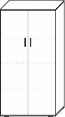 4 Ordnerhöhen (146 cm hoch), 80 cm breit