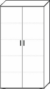 5 Ordnerhöhen (180,5 cm hoch), 100 cm breit