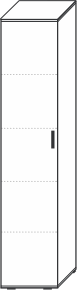5 Ordnerhöhen (180,5 cm hoch), 40 cm breit