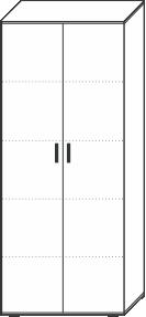 5 Ordnerhöhen (180,5 cm hoch), 80 cm breit