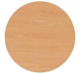 Tischplatte rund 100 cm, Plattenstärke: 25 mm, Dekor: Buche, melamin