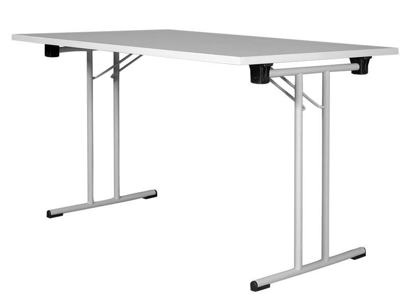 Klapptisch T1, 120 x 40 cm, Lichtgrau - Aluminium, Plattenstärke: 19 mm