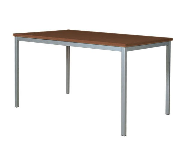 Universaltisch, 140 x 70 cm, Wenge - Aluminium, Plattenstärke: 19 mm