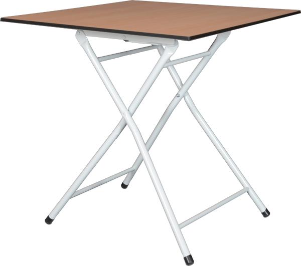 Bistrotisch GEKO mit Klappgestell GLIT,  melaminharz beschichtete Tischplatte