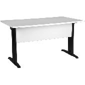 Schreibtisch ERENDEL mit Holzverblendung, vorne