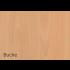 Konferenztisch RATRO mit Gestell aus Melaminharz beschichteten Holzsäulen